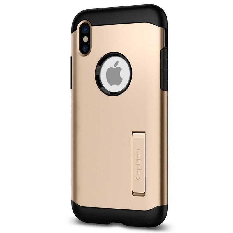 Spigen - Slim Armor iPhone 8 Hoesje Champagne Gold 05