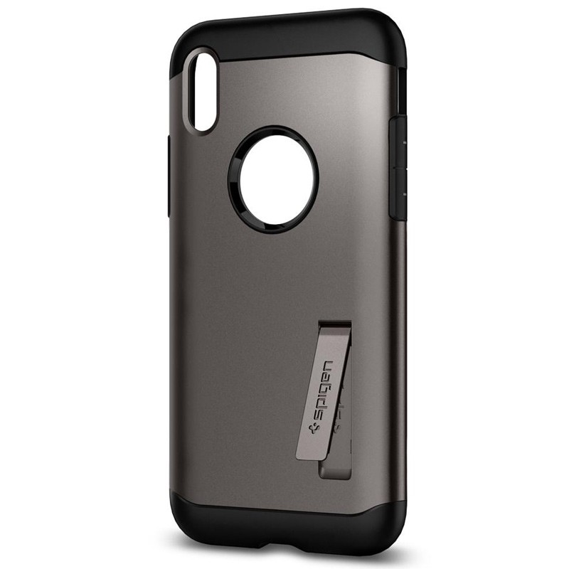 Spigen - Slim Armor iPhone 8 Hoesje Gunmetal 04