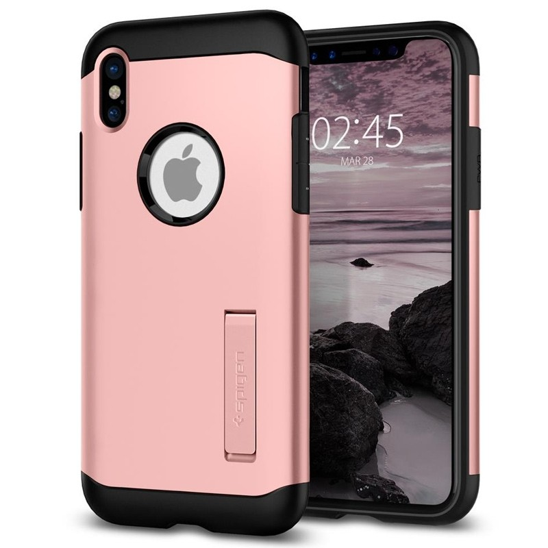 Spigen - Slim Armor iPhone 8 Hoesje Rose Gold 01