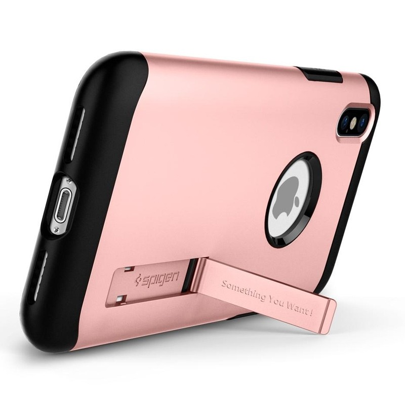 Spigen - Slim Armor iPhone 8 Hoesje Rose Gold 02