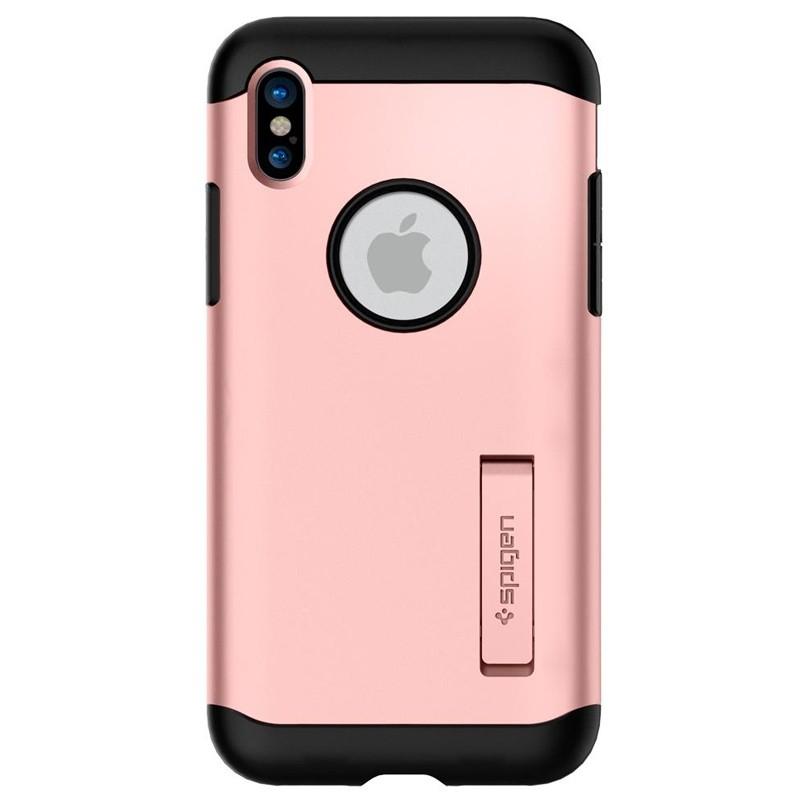 Spigen - Slim Armor iPhone 8 Hoesje Rose Gold 06
