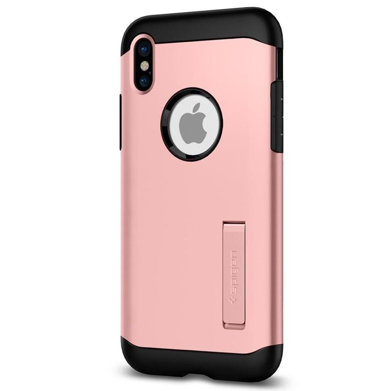 Spigen - Slim Armor iPhone 8 Hoesje Rose Gold 05