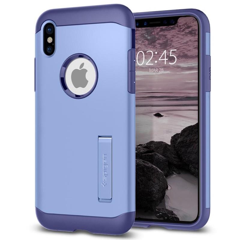 Spigen - Slim Armor iPhone 8 Hoesje Violet 01