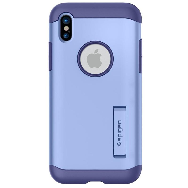 Spigen - Slim Armor iPhone 8 Hoesje Violet 05