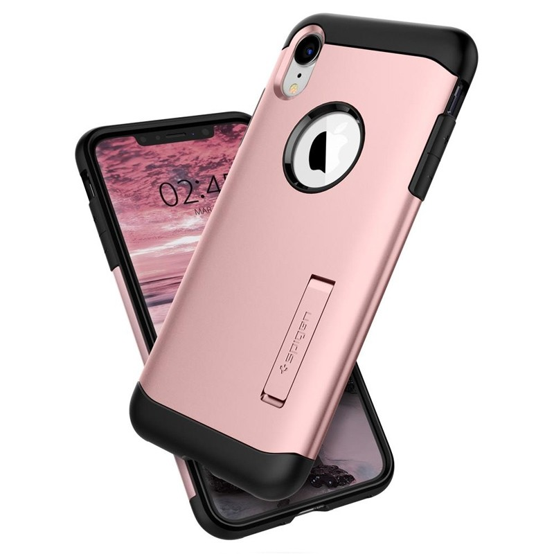 Spigen Slim Armor iPhone XR Hoesje Rose Gold 02