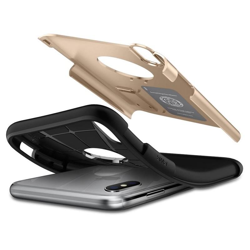 Spigen Slim Armor iPhone XS Max Hoesje Goud 03