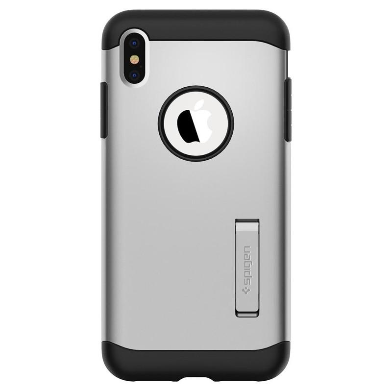 Spigen Slim Armor iPhone XS Max Hoesje Silver 01