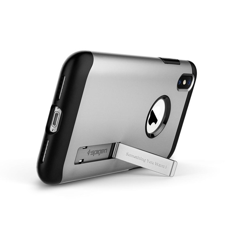 Spigen Slim Armor iPhone XS Max Hoesje Silver 02