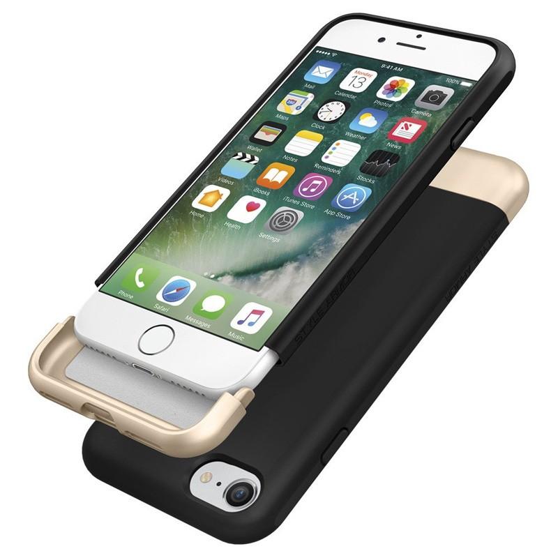 Spigen Style Armor Case iPhone 7 Black/Gold - 6