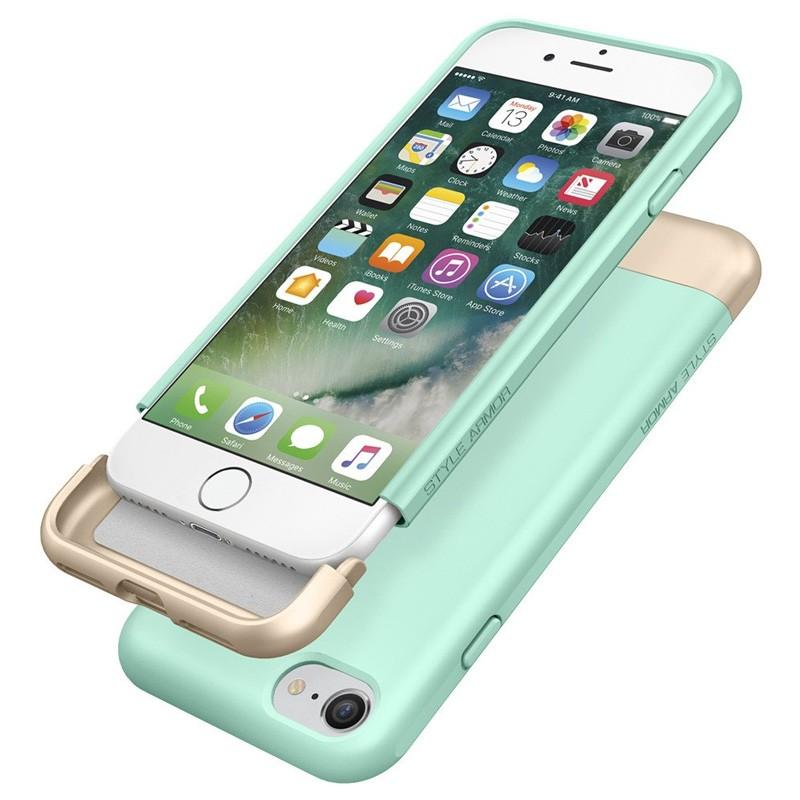 Spigen Style Armor Case iPhone 7 Mint Green/Gold - 6