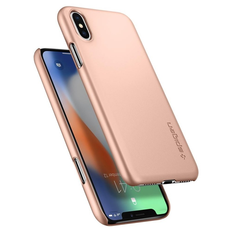 Spigen Thin Fit Case iPhone X/Xs Hoesje Blush Gold - 2