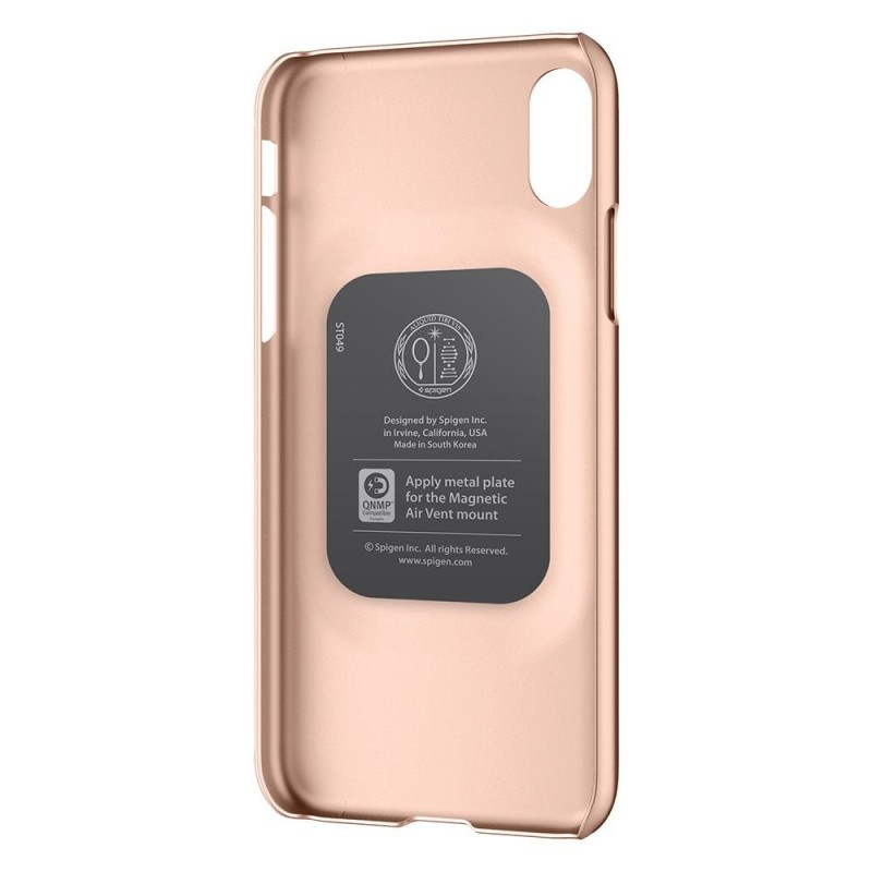 Spigen Thin Fit Case iPhone X/Xs Hoesje Blush Gold - 4