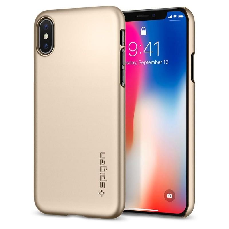 Spigen Thin Fit Case iPhone X/Xs Hoesje Goud - 1