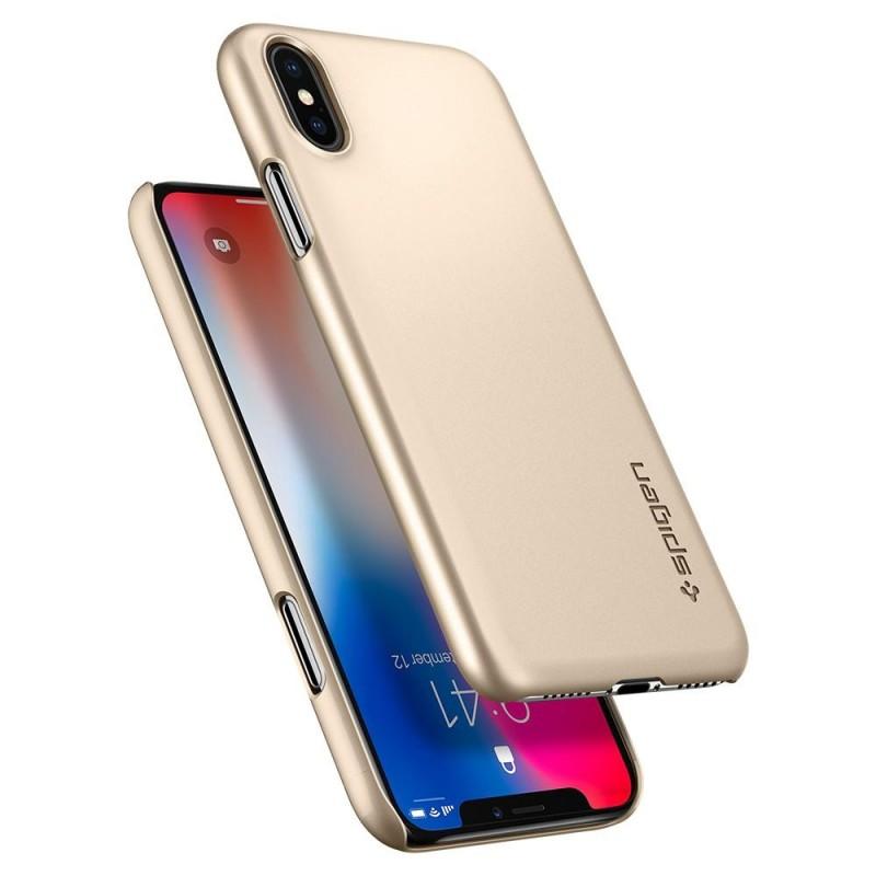 Spigen Thin Fit Case iPhone X/Xs Hoesje Goud - 2