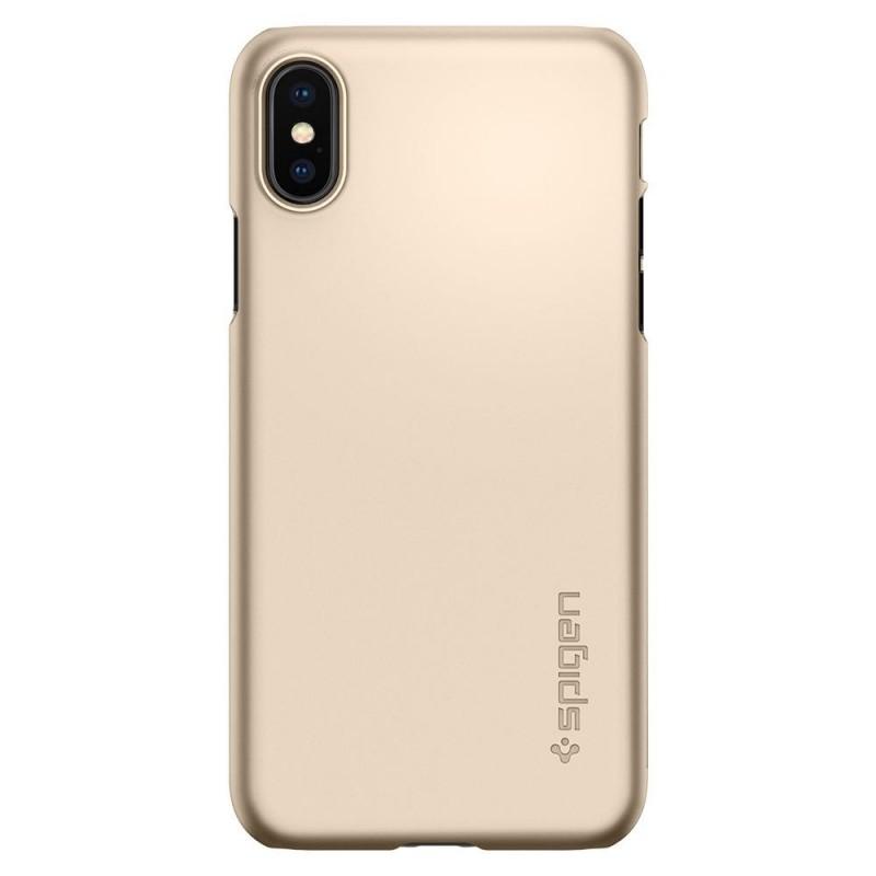 Spigen Thin Fit Case iPhone X/Xs Hoesje Goud - 6