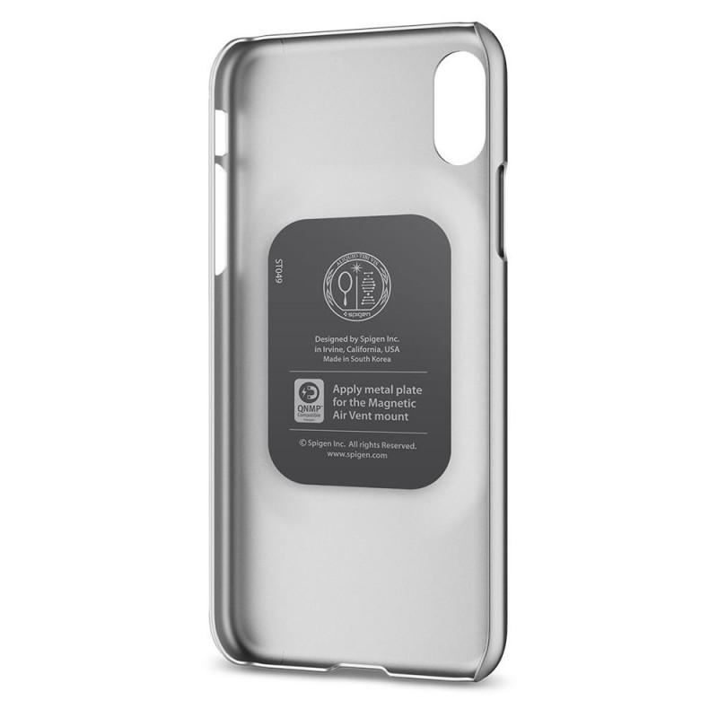 Spigen Thin Fit Case iPhone X/Xs Hoesje Zilver - 4