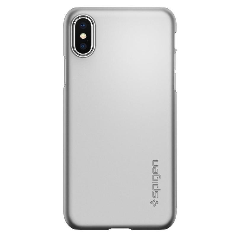 Spigen Thin Fit Case iPhone X/Xs Hoesje Zilver - 5
