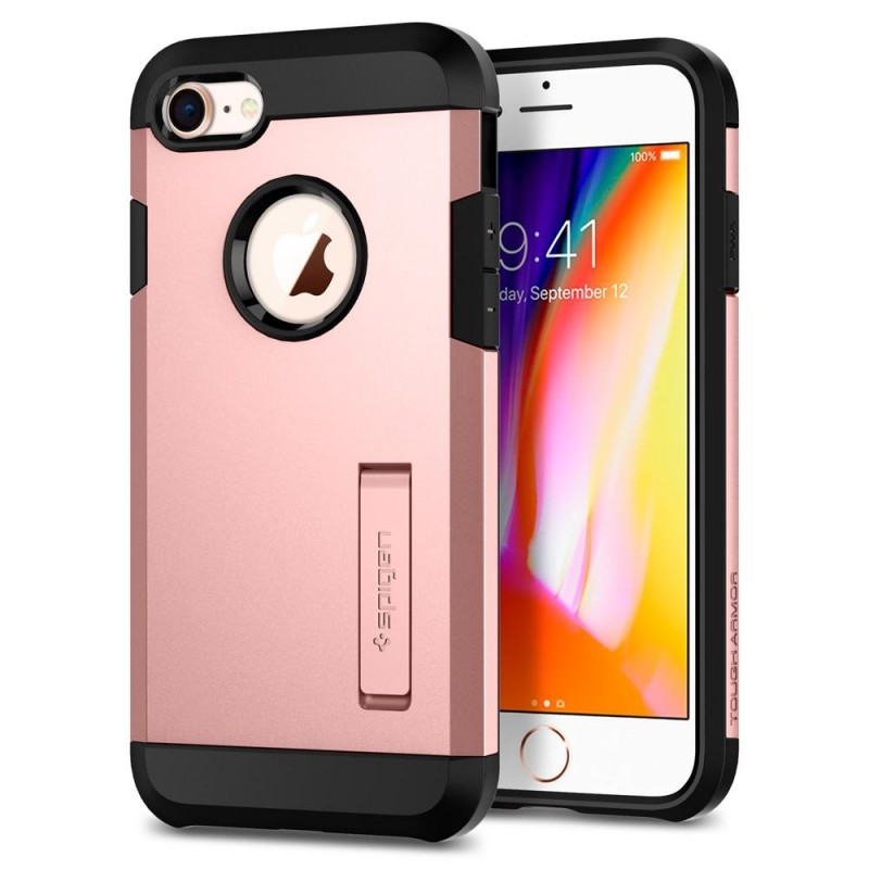 Spigen Tough Armor 2 iPhone 8/7 Hoesje Roze - 1