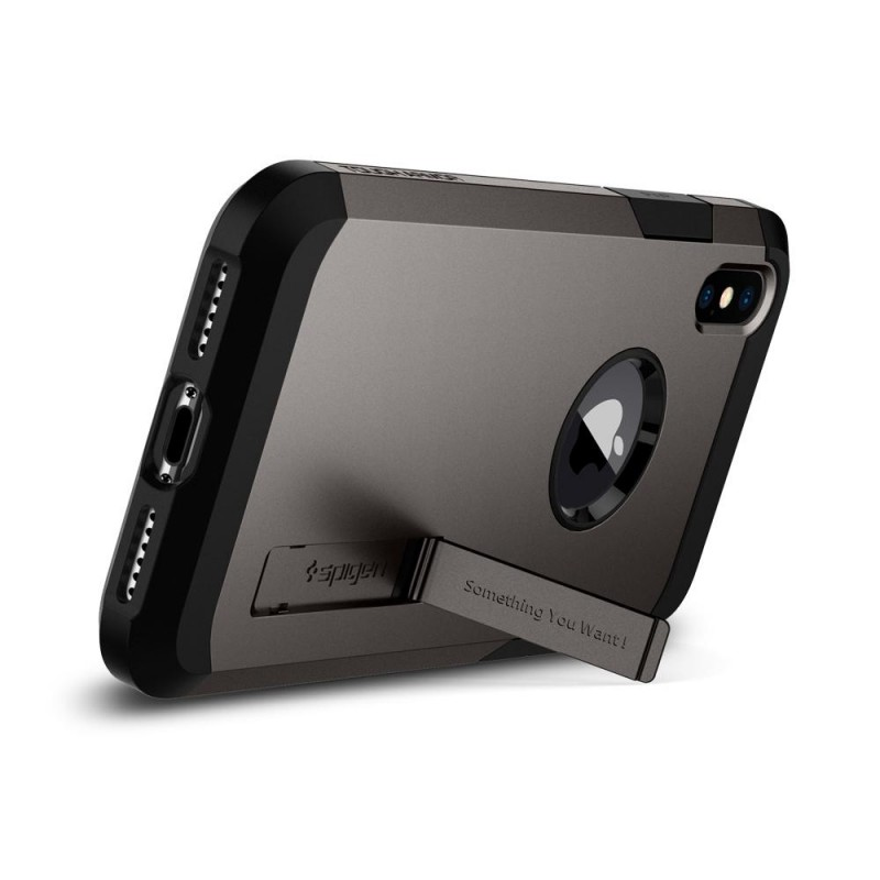 Spigen Tough Armor Case iPhone X/Xs Hoesje Gunmetal - 3