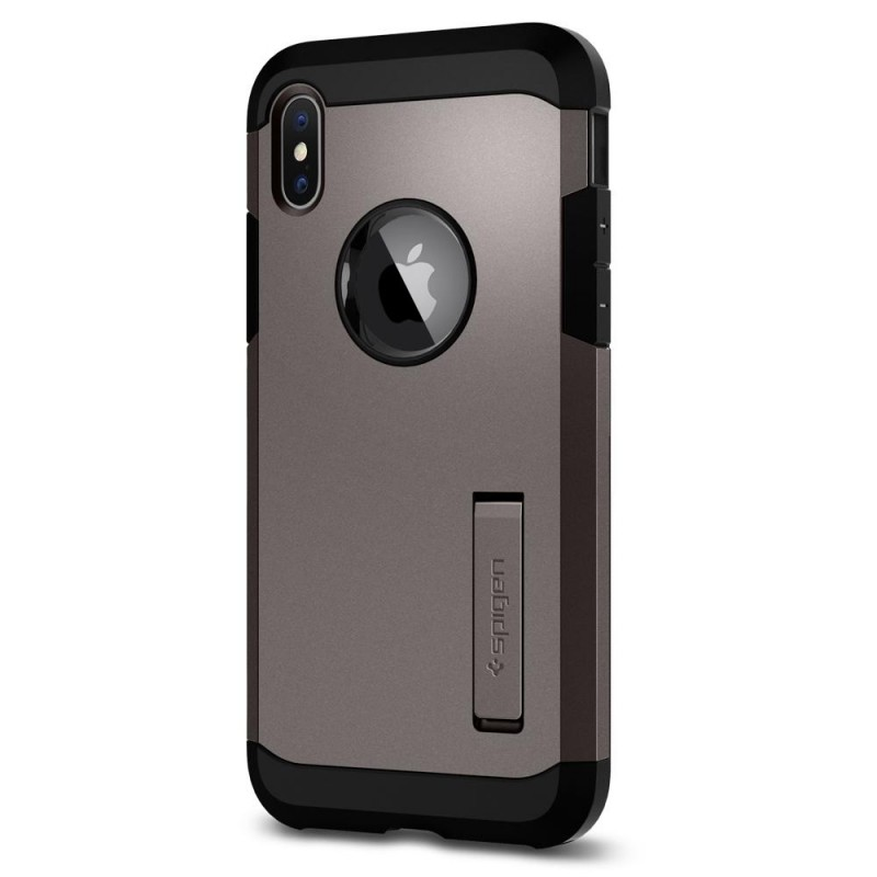 Spigen Tough Armor Case iPhone X/Xs Hoesje Gunmetal - 4