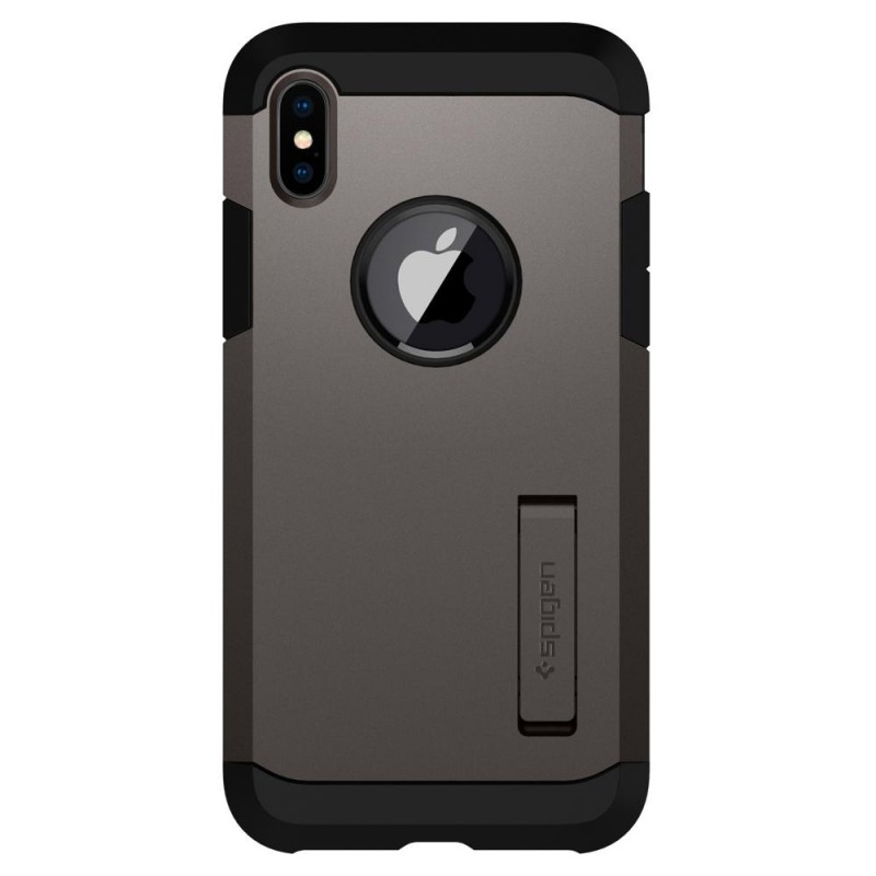 Spigen Tough Armor Case iPhone X/Xs Hoesje Gunmetal - 6