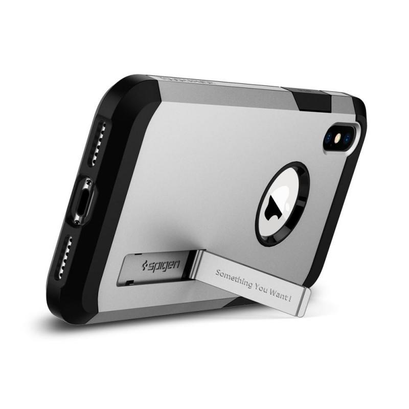 Spigen Tough Armor Case iPhone X/Xs Hoesje Zilver - 2