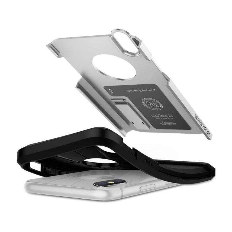 Spigen Tough Armor Case iPhone X/Xs Hoesje Zilver - 3