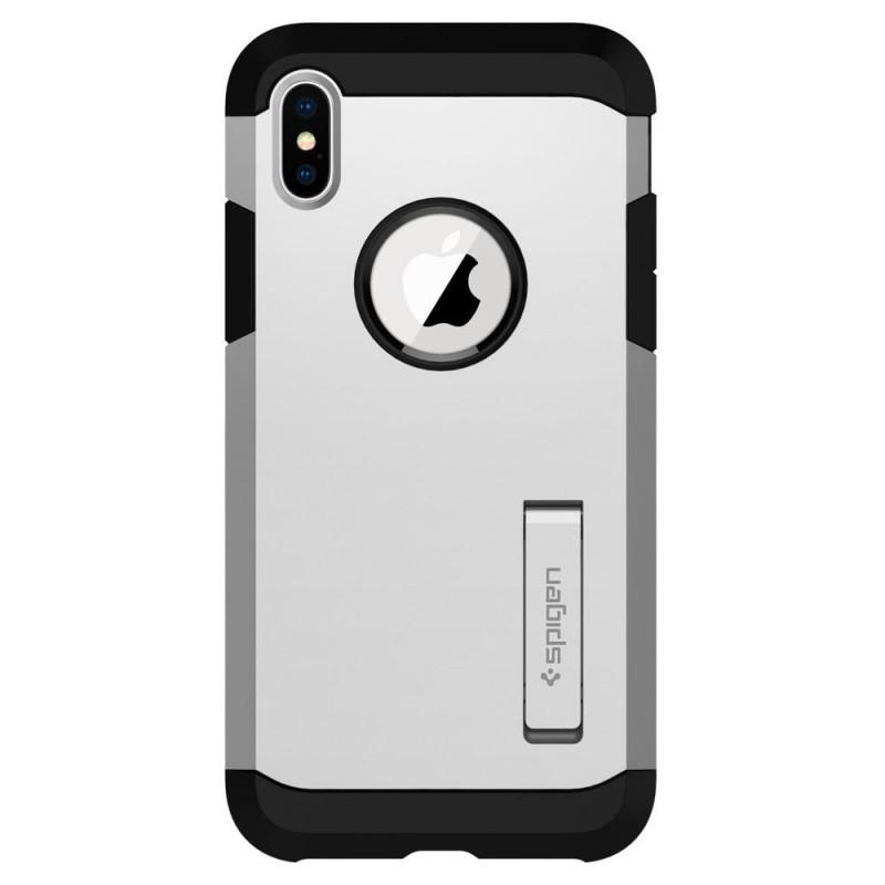Spigen Tough Armor Case iPhone X/Xs Hoesje Zilver - 4