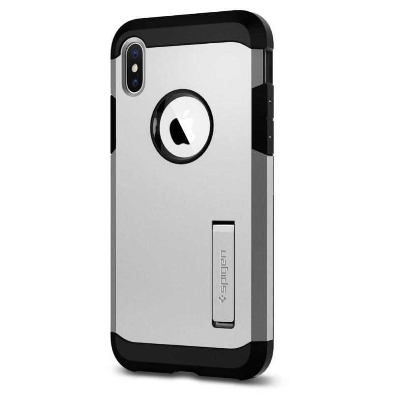 Spigen Tough Armor Case iPhone X/Xs Hoesje Zilver - 6