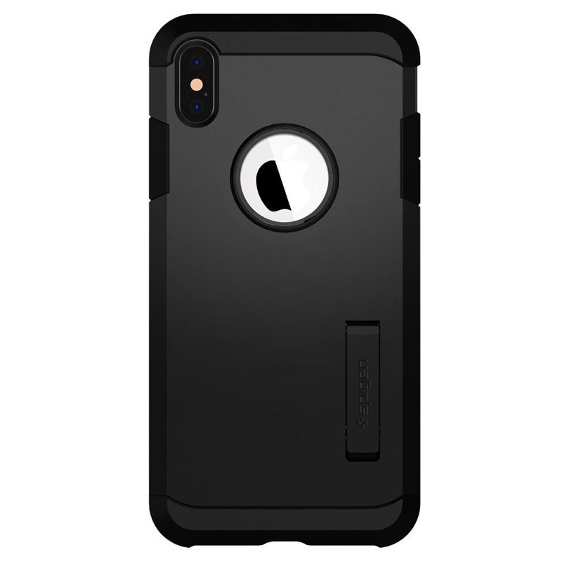 Spigen Tough Armor Case iPhone XS Max Zwart 01