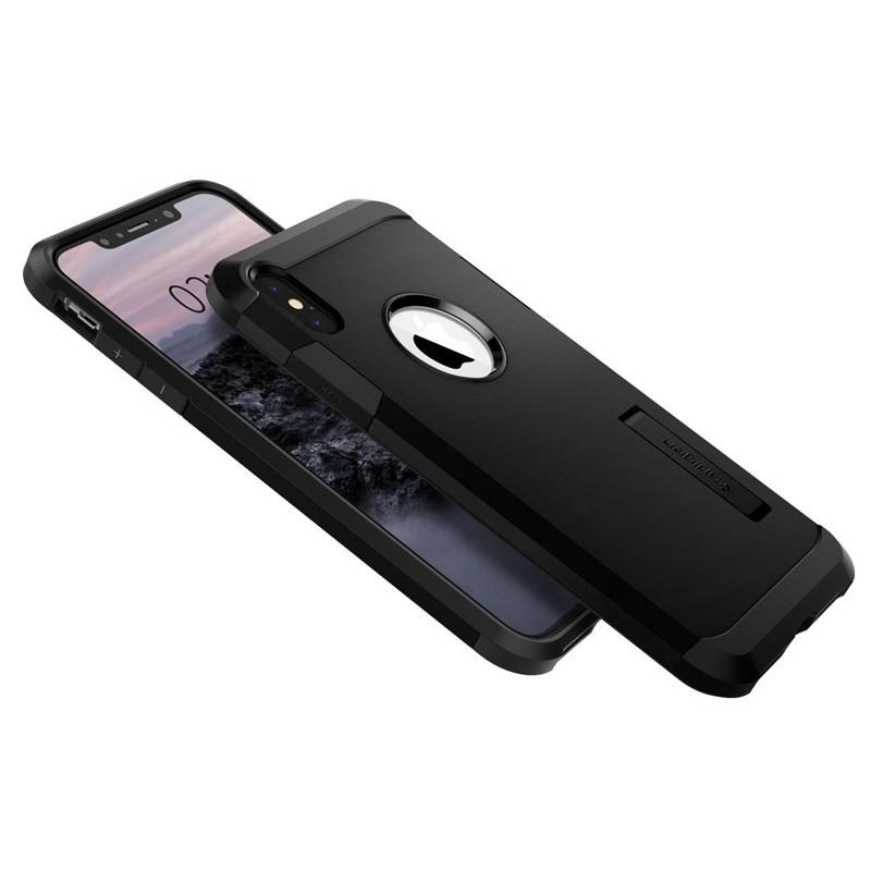 Spigen Tough Armor Case iPhone XS Max Zwart 06