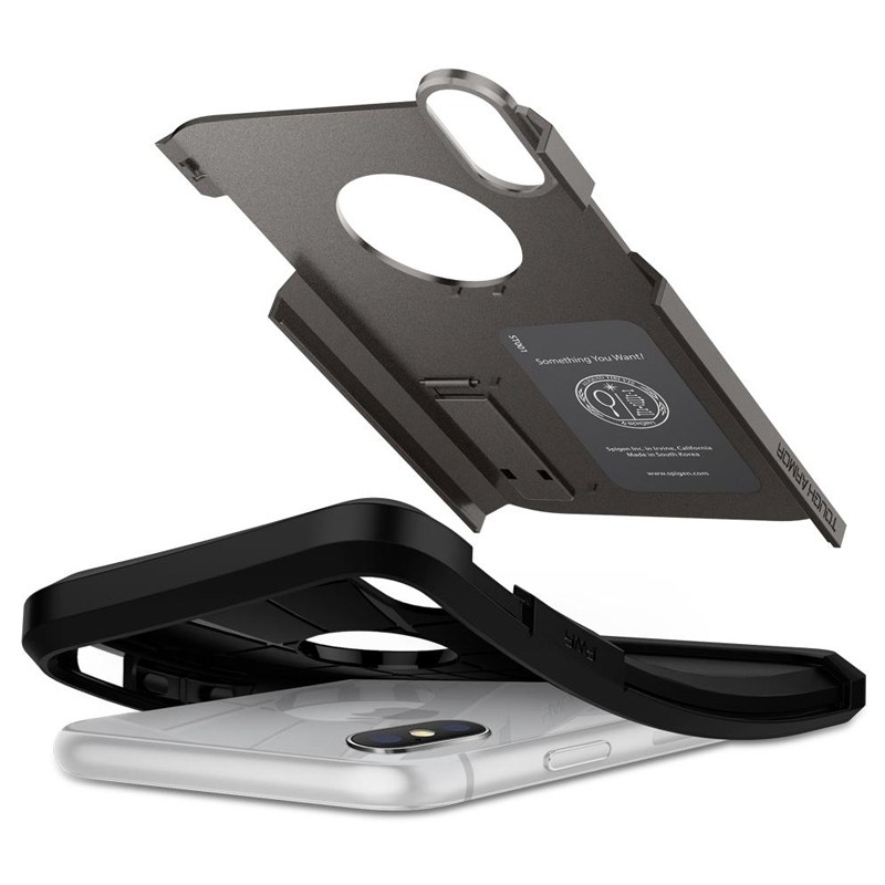 Spigen Tough Armor Case iPhone XR Gunmetal 02