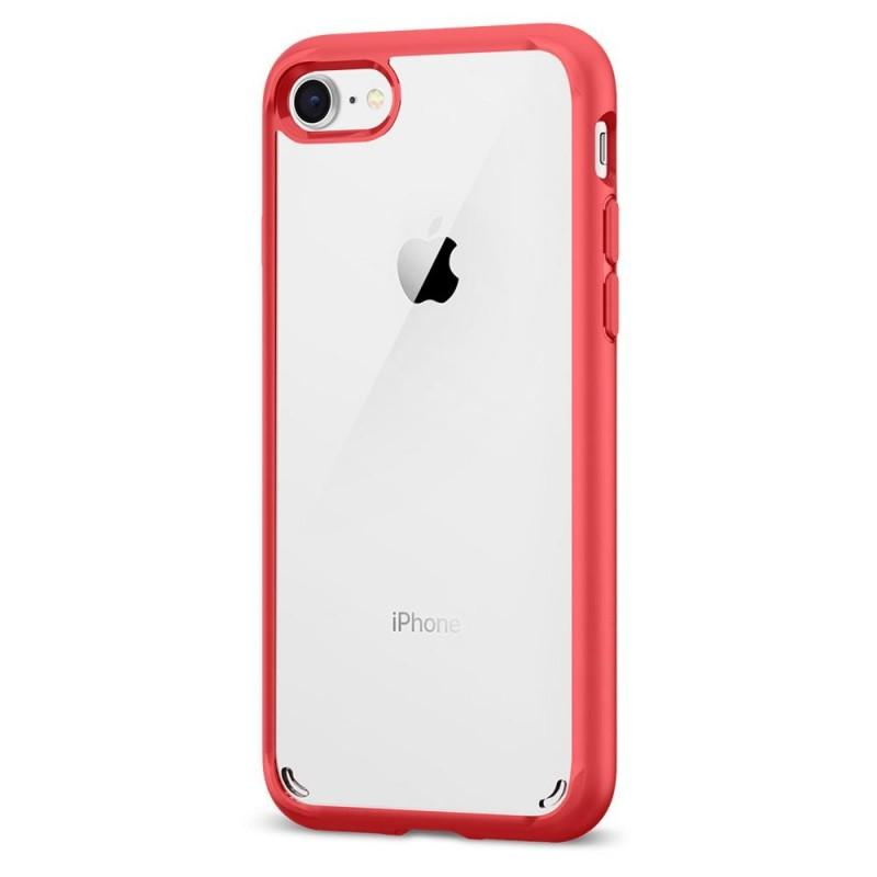 Spigen Ultra Hybrid 2 Case iPhone 8/7 Rood - 6