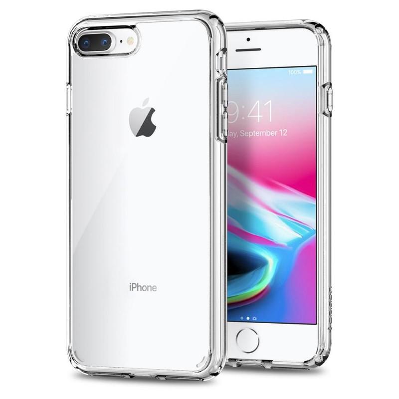 Spigen Ultra Hybrid 2 Case  iPhone 8 Plus/7 Plus Transparant - 1