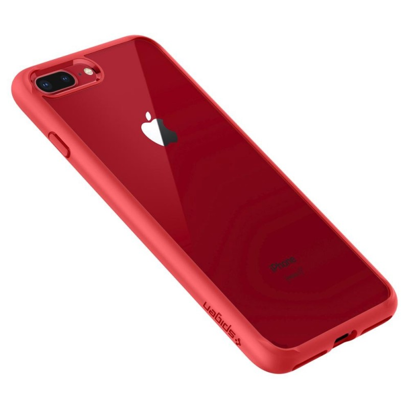 Spigen Ultra Hybrid 2 Case iPhone 8 Plus/7 Plus Rood - 2