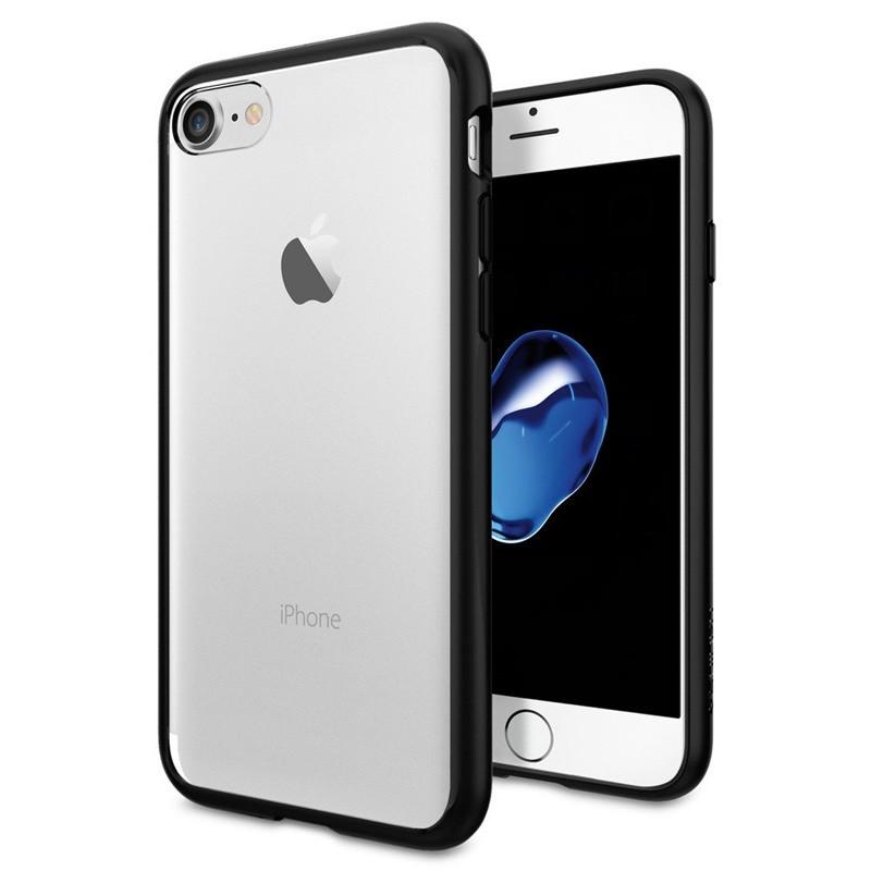 Spigen Ultra Hybrid iPhone 7 Black/Clear - 1