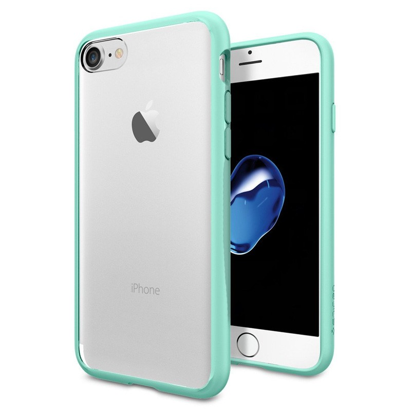 Spigen Ultra Hybrid iPhone 7 Mint Green/Clear - 1