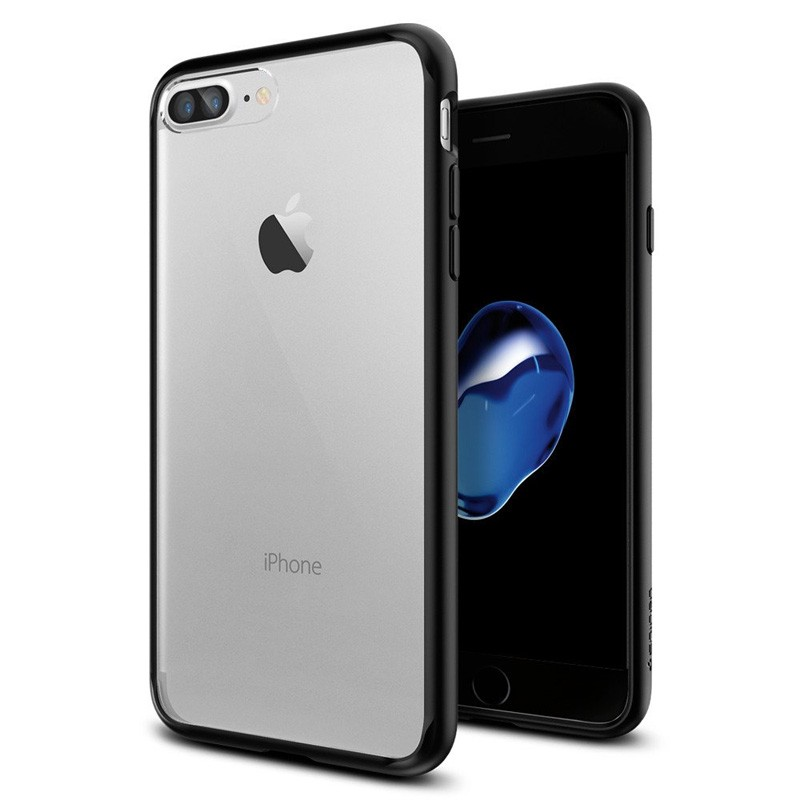 Spigen Ultra Hybrid iPhone 7 Plus Black/Clear - 1