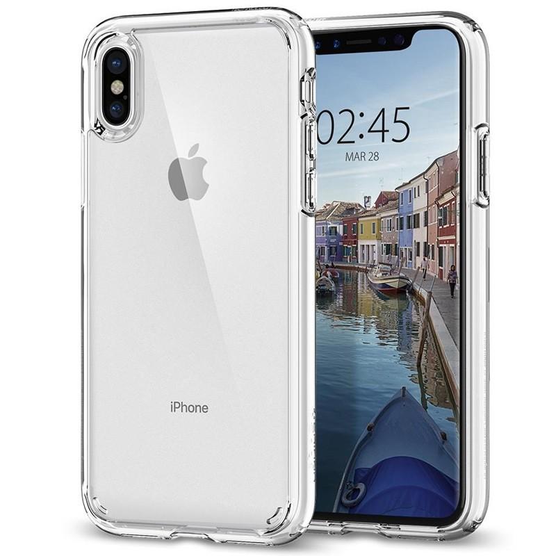 Spigen - Ultra Hybrid iPhone X/Xs Hoesje Clear 01