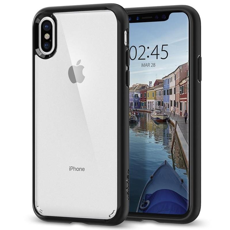 Spigen - Ultra Hybrid iPhone X/Xs Hoesje Black Clear 01