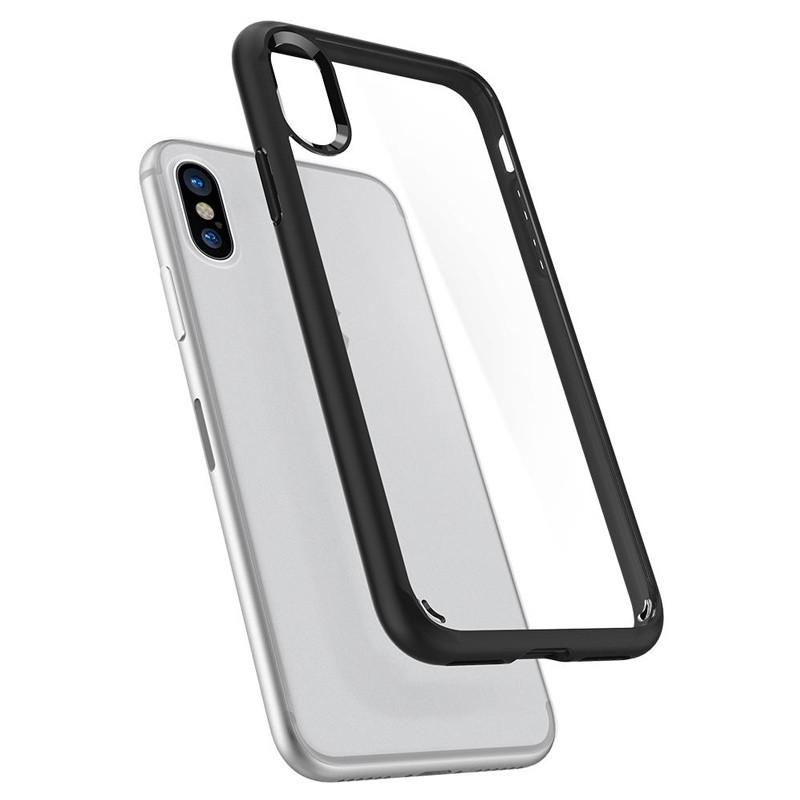 Spigen - Ultra Hybrid iPhone X/Xs Hoesje Black Clear 02