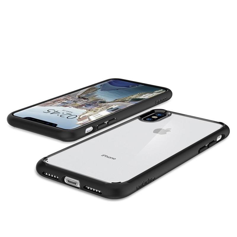 Spigen - Ultra Hybrid iPhone X/Xs Hoesje Black Clear 03