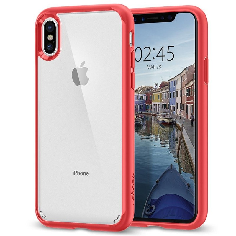 Spigen - Ultra Hybrid iPhone 8 Hoesje Red 01