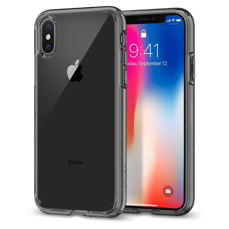 Spigen Ultra Hybrid iPhone X/Xs Hoesje Grijs/Transparant - 1