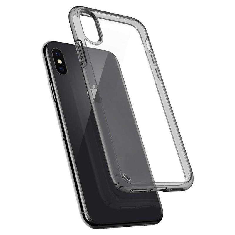 Spigen Ultra Hybrid iPhone X/Xs Hoesje Grijs/Transparant - 2
