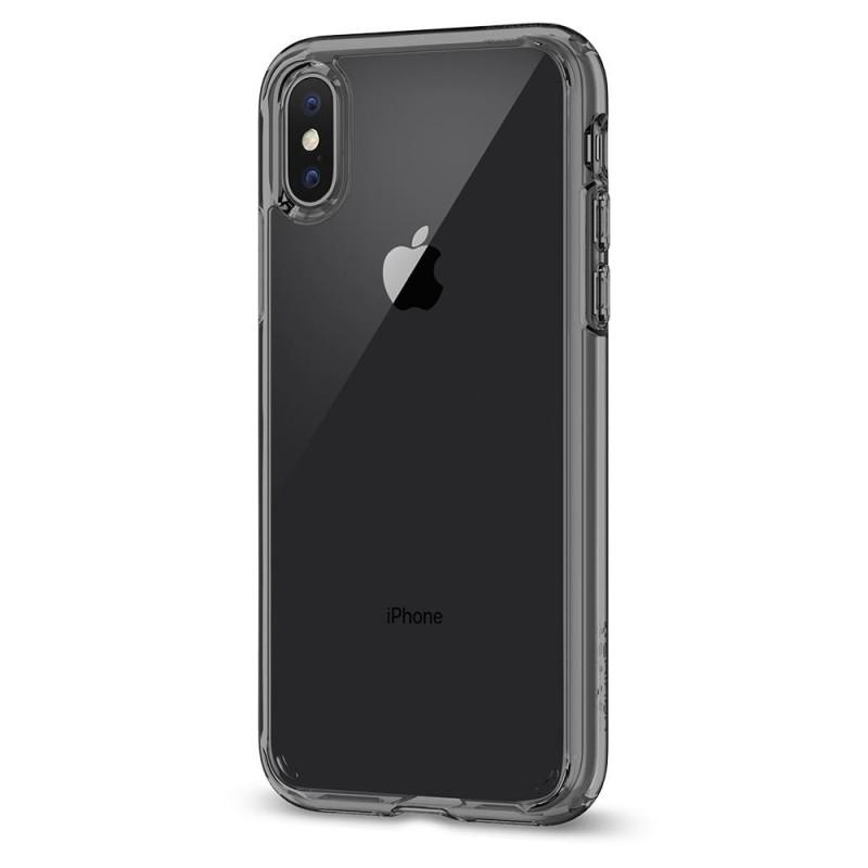 Spigen Ultra Hybrid iPhone X/Xs Hoesje Grijs/Transparant - 4