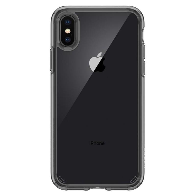 Spigen Ultra Hybrid iPhone X/Xs Hoesje Grijs/Transparant - 5