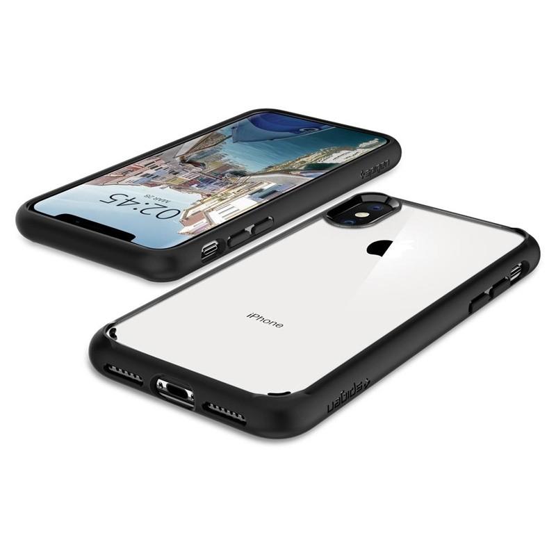 Spigen Ultra Hybrid iPhone XS Max Hoesje zwart / transparant 05
