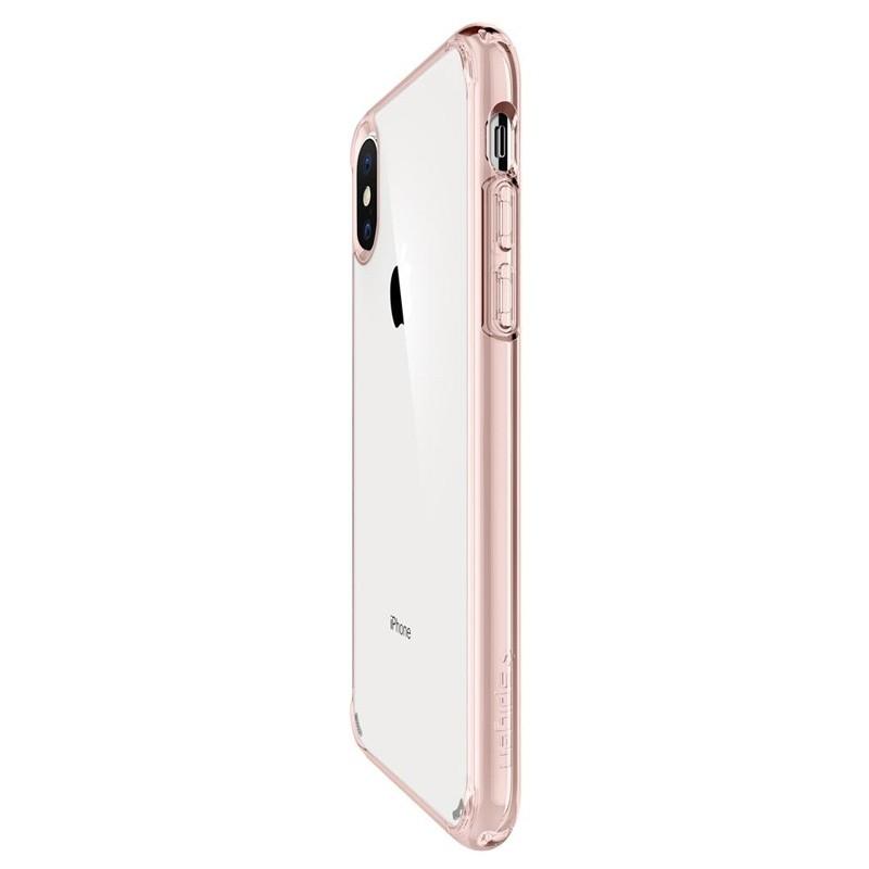 Spigen Ultra Hybrid iPhone XS Max Hoesje roze / transparant 02