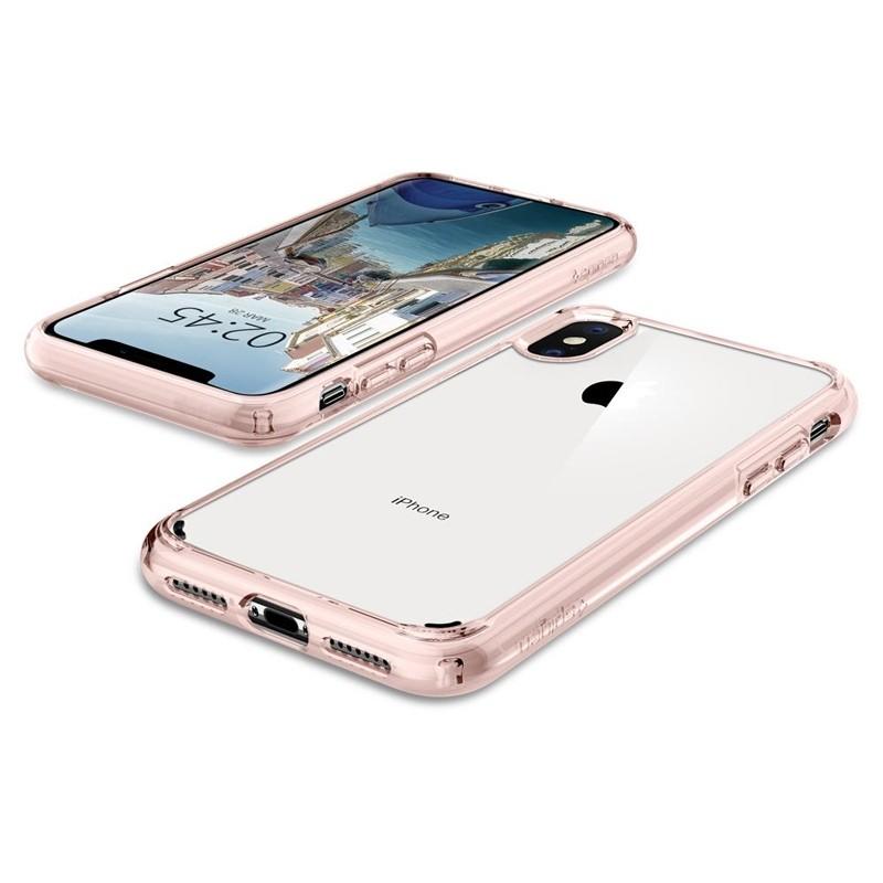 Spigen Ultra Hybrid iPhone XS Max Hoesje roze / transparant 04